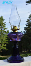 Extremely BEAUTIFUL deep Lolli Pop PURPLE hand blown ANTIQUE Victorian LAMP