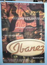 IBENEZ GUITAR IBENEZ.COM LARGE 2 x 3 FT. MUSIC DEALER DISPLAY SIGN BANNER #388