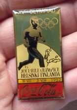 HELSINKI 1952 OLYMPIC GAMES Metal Enamel Pin Badge Rare COCA COLA  Alton Towers