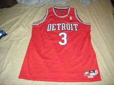 Mens Throwback Ben Wallace Detroit Pistons Nike Rewind 1975 Jersey Sewn Sz. XL