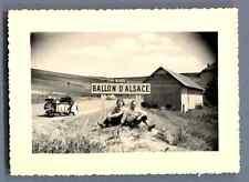 France, Ballon d'Alsace  Vintage silver print. Moto  Tirage argentique