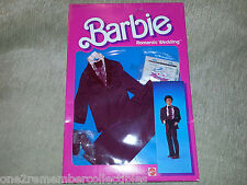 BARBIE Doll KEN Romantic WEDDING TUXEDO w SHOES Clothes +Invitations 1986 MATTEL