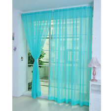 2 Coloful Floral Tulle Voile Door Window Curtain Drape Panel Sheer Scarf Divider