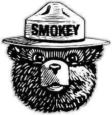 "Smokey Bear Car Bumper Window Tool Box Sticker Decal 4""X5"""