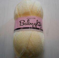 King Cole Baby Glitz Double Knitting 101 Lemon Yarn