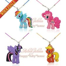 New 20PCS My Little Pony PVC Chain Necklace pendant accessories Kids party gifts