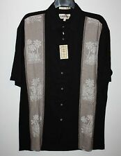 CAMPIA MODA Black Casual Dress Camp Shirt Button Front Size S Short Sleeve NEW