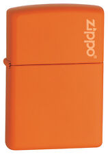 Zippo Windproof Orange Matte Lighter With Logo, 231ZL, New In Box