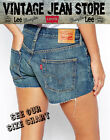 Vintage Levis red/orange tab Denim High Waisted Shorts Jeans 6 8 10 12 14 16