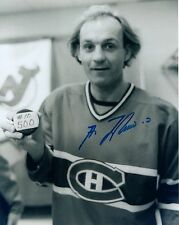 GUY LAFLEUR AUTHENTIC SIGNED 8x10 PHOTO       CANADIENS HOF WITH 500th GOAL PUCK