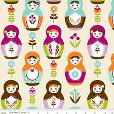 Little Matryoshka Main Cream by Carly Griffith for Riley Blake, 1/2 yard