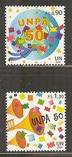 UN-Geneva #377-378, 2001 U.N. Postal Administration 50th Anniversary, Unused NH