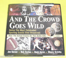 And the Crowd Goes Wild 1999 Book & 2 CDs Great Pictures Nice See!