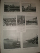 Printed photos Mumbles life-boat and pier Port talbot 1903 print ref X