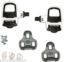 NEW 2016 LOOK KEO CLASSIC 2 Road Pedals with Gray Grip Cleats: WHITE /BLACK