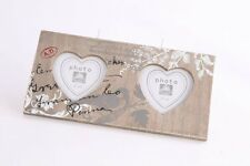 """Vintage Photo Picture Multi Frame 3x3"""" Heart Shabby Chic Retro Print Home Gift"""