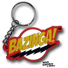 Big Bang Theory Bazinga Sheldon Cooper Licensed Rubber Key Chain Keychain