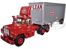 MACK R MODEL WITH 28' PUP TRAILER MC LEAN TRUCKING CO. 1/64 FIRST GEAR 60-0285
