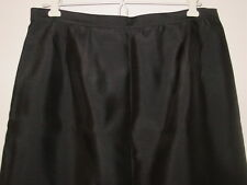 Talbots black 100% silk long full length skirt lined party holiday sissy-12