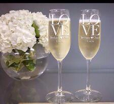 """Personalised Wedding Sposa e Sposo """"Love"""" CHAMPAGNE"""