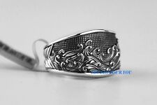 DAVID YURMAN MEN'S WIDE WAVES 3 SIDED STERLING SILVER RING SZ 10 NEW BOX POUCH