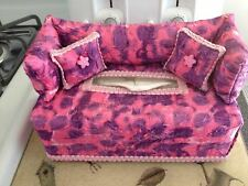 Pink Purple Lavender Tie Dye Fabric COUCH SOFA TISSUE BOX COVER Unique Brand New