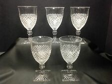 Westmoreland Glass English Hobnail Water Wine Goblets, Set of (5)