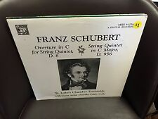SCHUBERT Overture in C/String Quintet in C Major LP MHS St. Luke's Chamber Ensem
