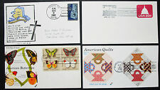 US postage set of 4 covers Letters envelopes Illustrated FDC USA lettere (h-8306