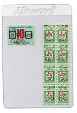 8 S & H Vintage Green Stamps MINT Fifties? Sixties? PLUS BONUS A RARE 10 STAMP
