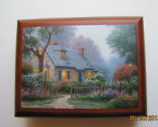 "Thomas Kinkade Wooden  Music Box  - ""Foxglove Cottage"" NIB Item# 0110812009"