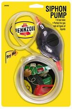 Pennzoil Siphon Pump 6' Tube - Liquid, Gas for Auto-Car-Truck-Home