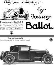 Ballot 1928 - Les Voitures Ballot