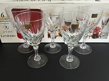 "5 LUMINARC ""FLAMENCO"" LARGE WINE GLASSES, 25cl, 7"" Tall - BOXED"