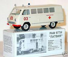 Vector Models 1/43 russian soviet ambulance bus RAF 977 I CCCP USSR MIB