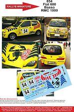 DÉCALS  1/43 réf 854 Fiat 600 Basso MONTE CARLO 1999