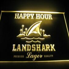 landshark happy hour LED neon light sign  pub bar beer