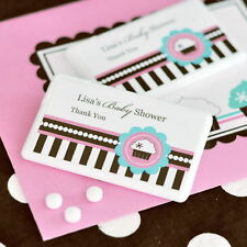 48 Personalized Cupcake Party Theme Mini Mints Baby Shower Favors