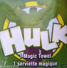MARVEL MAGIC TOWEL! THE HULK! 100% COTTON! MARVEL COPYRIGHT! 1 WASHCLOTH!