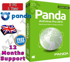 PANDA ANTIVIRUS PRO 2015 3 PC USER 1 YEAR! Activation License Key Anti Virus