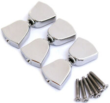 NEW 6 Chrome Keystone Buttons, Screws for Grover Tuners Tuning Pegs Keys Buttons