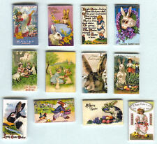 12 HAND-MADE DOLLS' HOUSE 1/12TH SCALE VICTORIAN EASTER CARDS