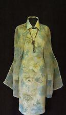 GINA BACCONI Cream Blue Size 8 10 Ladies Designer Wedding Dress & Jacket Outfit