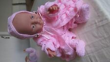 new anatomically correct newborn 40cm doll in handknit clothes