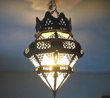 Lustre Marocain plafonnier lampe lanterne applique déco orientale  verre sablé