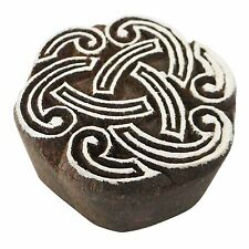 Celtic Knot Round 5.3cm Indian Hand Carved Wooden Printing Block Stamp