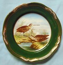 "SPODE 9"" HAND PAINTED PLATE SNIPE FROM GAME BIRDS SERIES"