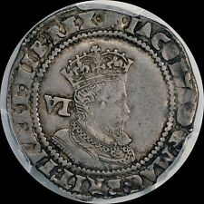 1606 6D SIXPENCE PCGS XF40 JAMES 1 ENGLAND JAMESTOWN COIN  ROTATED DIE COLONIAL