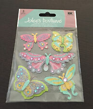 SCRAPBOOKING STICKERS JOLEE'S PAPILLONS COLORES BRILLANTS  3D