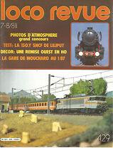 LOCO REVUE N°429 150.Y SNCF DE LILIPUT / REMISE OUEST EN HO / GARE DE MOUCHARD